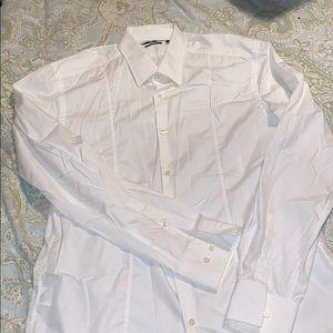 HUGO BOSS Men's white dress shirt Sz 41/16